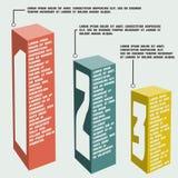 L'affare fa un passo a successo e rappresenta graficamente il banne di opzioni Fotografia Stock Libera da Diritti