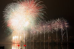 L'affichage de feux d'artifice Photos libres de droits
