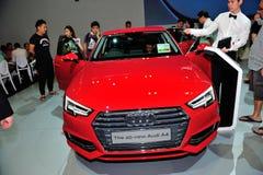 L'affichage tout-neuf d'Audi A4 pendant le Singapour Motorshow 2016 Photographie stock