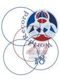 L'affiche a conçu pour l'équipe de football de Frances pour la coupe du monde 2018 Photo stock
