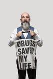 l'affiche d'homme de l'illustration 3d a rendu Image libre de droits