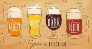 L'affiche dactylographie la bière papier d'emballage illustration de vecteur