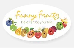L'affiche de fruit porte des fruits tropical Photographie stock