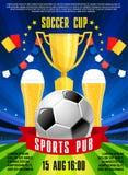 L'affiche de vecteur pour le football du football folâtre le bar Image libre de droits