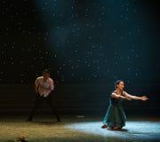 L'Affliger-amour est danse douloureux-moderne Photographie stock libre de droits