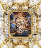 """L'affresco Corrado Giaquinto """"Spagna rende l'omaggio alla religione e fotografie stock libere da diritti"""