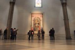 L'affresco della trinità da Masaccio Immagini Stock Libere da Diritti