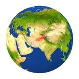 L'Afghanistan a accentué sur terre Image libre de droits