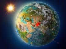 L'Afghanistan avec le coucher du soleil sur terre Illustration Libre de Droits
