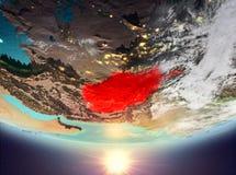L'Afghanistan avec le soleil Photos libres de droits
