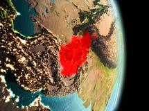 L'Afghanistan dans le matin de l'orbite Images libres de droits