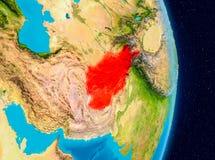 L'Afghanistan de l'espace Photographie stock