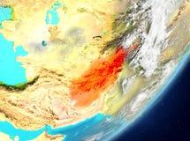 L'Afghanistan de l'espace Photo stock