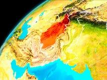 L'Afghanistan de l'espace Image stock