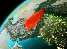 L'Afghanistan de l'espace dans la soirée Photo libre de droits