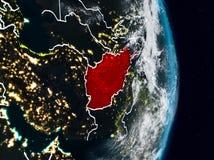 L'Afghanistan de l'espace la nuit Illustration Stock