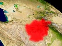 L'Afghanistan de l'espace Image libre de droits