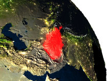 L'Afghanistan de l'espace Photos stock