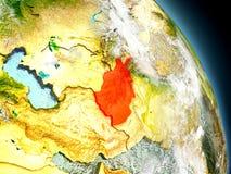 L'Afghanistan de l'espace Photographie stock libre de droits
