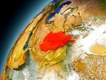 L'Afghanistan de l'orbite d'Earth modèle Illustration Libre de Droits