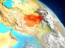 L'Afghanistan de l'orbite Photos stock