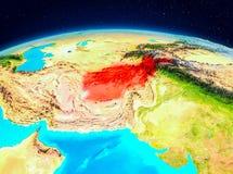 L'Afghanistan de l'orbite Illustration de Vecteur