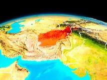 L'Afghanistan en rouge Illustration de Vecteur
