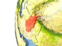 L'Afghanistan en rouge Photo libre de droits