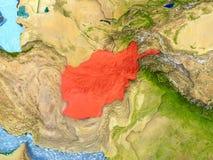 L'Afghanistan en rouge Images libres de droits
