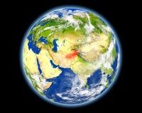 L'Afghanistan en rouge de l'espace Photos libres de droits