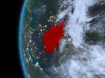 L'Afghanistan en rouge la nuit Illustration Stock