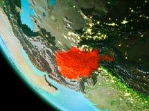 L'Afghanistan en rouge le soir Images libres de droits