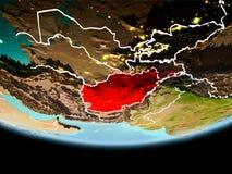 L'Afghanistan en rouge le soir Illustration Stock
