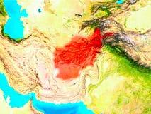 L'Afghanistan en rouge sur terre Photographie stock libre de droits