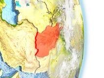 L'Afghanistan en rouge sur terre Photos stock