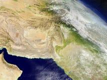 L'Afghanistan et le Pakistan de l'espace Images stock