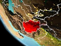 L'Afghanistan la nuit sur terre Illustration Libre de Droits