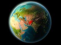 L'Afghanistan le soir Illustration de Vecteur