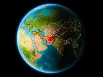 L'Afghanistan le soir Illustration Stock