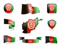 L'Afghanistan marque la collection Image stock