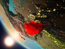 L'Afghanistan pendant le coucher du soleil sur terre Illustration de Vecteur
