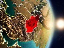 L'Afghanistan pendant le lever de soleil Illustration de Vecteur