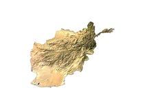 L'Afghanistan su priorità bassa bianca Immagine Stock Libera da Diritti