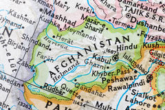 L'Afghanistan su un globo fotografia stock libera da diritti