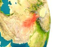 L'Afghanistan sur la planète Photographie stock