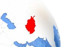 L'Afghanistan sur le globe élégant Images stock