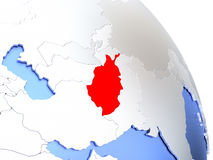 L'Afghanistan sur le globe élégant Photographie stock