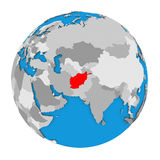 L'Afghanistan sur le globe Images stock
