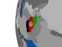 L'Afghanistan sur le globe Photo libre de droits