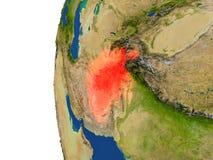 L'Afghanistan sur le globe Photos stock